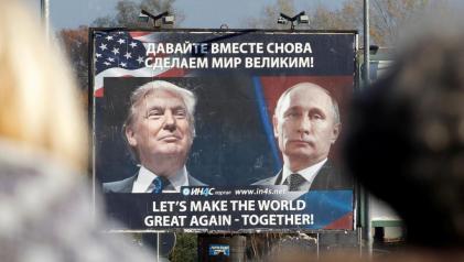 Ảnh tổng thống Mỹ Donald Trump và tổng thống Nga Vladimir Putin tại Danilovgrad, Montenegro, 16 tháng 11, năm 2016. Ảnh: REUTERS/Stevo Vasiljevic