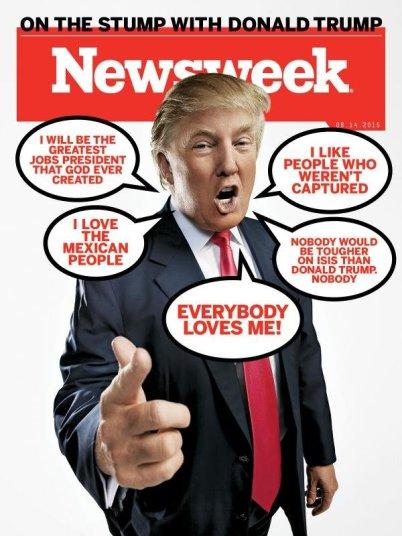 Những câu nói khoác lác của Donald Trump. Ảnh: báo Newsweek.