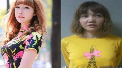 Đoàn Thị Hương, nghi phạm người Việt trong vụ ám sát ông Kim Jong Nam tại Malaysia. Ảnh: FB và Reuters.