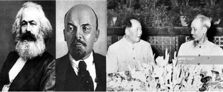 Từ trái qua phải: Mác, Lê, Mao, Hồ. Nguồn: Getty Images