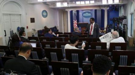 Đồng loạt nhiều cơ quan báo chí, truyền thông Mỹ và quốc tế tỏ thái độ trước động thái hạn chế báo chí của Nhà Trắng. Ảnh: Getty Images