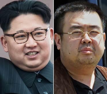 Kim Jong-nam (phải), người anh sống lưu vong của nhà lãnh đạo độc tài Bắc Triều Tiên Kim Jong-un (trái)
