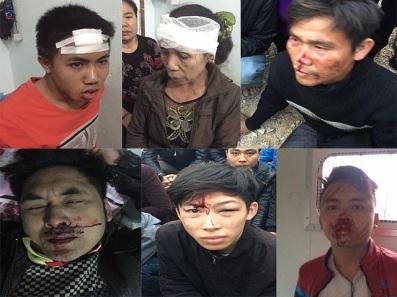 Những người dân vô tội bị đánh đập dã man. Ảnh: FB