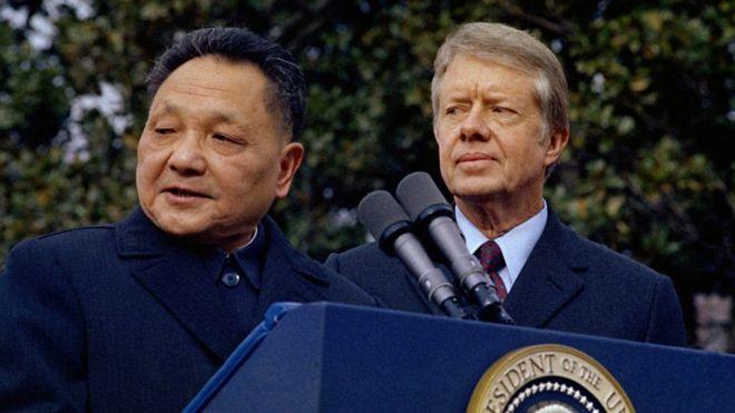 Đặng Tiểu Bình thăm Hoa Kỳ ngày 29/01/1979, không lâu trước khi cho quân đánh Việt Nam. Ảnh: AP