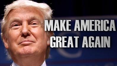 """Donald Trump với khẩu hiệu tranh cử của ông ta, khẩu hiện này lấy từ khẩu hiệu tranh cử của TT Ronald Reagan """"Let's Make America Great Again"""". Nguồn: internet"""