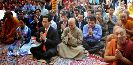 Prime Minister Nguyen Tan Dung of Vietnam at Bodhgaya in 2014. Credit: MEA