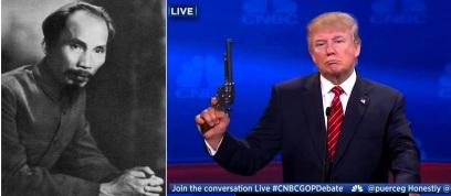 Hồ Chí Minh và Donald Trump