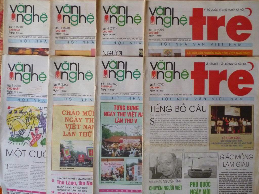 Báo Văn Nghệ Trẻ thời còn báo in. Ảnh: internet