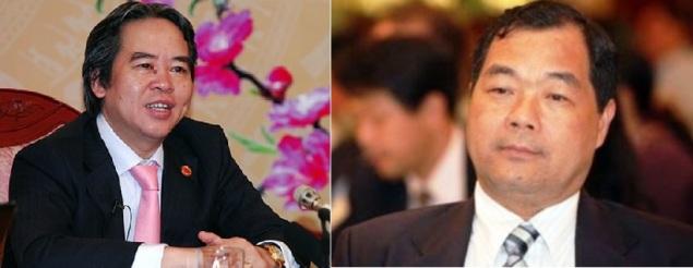 Nguyễn Văn Bình (trái) và Trầm Bê. Ảnh: internet